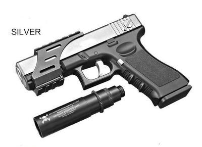 Manual Glock G18 Mag Feed Gel Blaster Silver