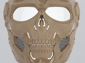 Skull Messenger Mask Tan