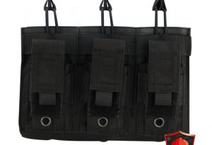 triple mag pouch black