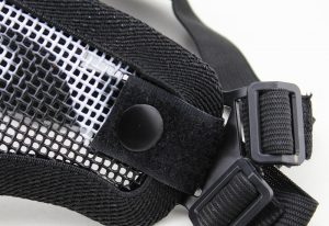 WoSporT half face steel mask with dual 1