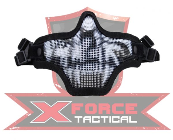 WoSporT half face steel mask with dual